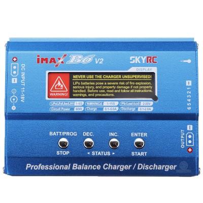 Зарядное устройство SkyRC iMAX B6 v.2 (SK-100161-01) для аккумуляторов Li-ion/LiPo/LiHV/LiFe/NiMh/NiCd/Pb