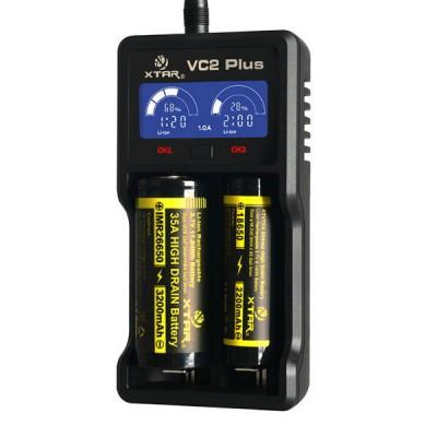 Зарядное устройство Xtar VC2 Plus Master (с функцией Power Bank) для Li-Ion/Ni-Mh аккумуляторов.