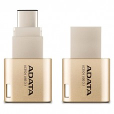Флешка ADATA 32GB USB 3.1 Gen1 Type-A / Type-C UC350 Gold