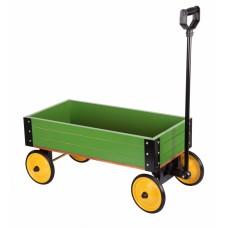 Игровая тележка деревянная goki зеленая 14147G