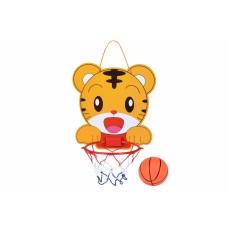 Игровой набор Same Toy Баскетбольное кольцо настенное Тигренок (желтое) 553-21Ut-2