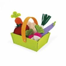 Игровой набор Janod Корзина с овочами 8 эл. J06578