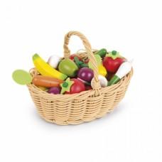 Игровой набор Janod Корзина с овощами и фруктами 24 эл. J05620