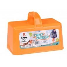 Игровой набор Same Toy 2 в 1 Fort Maker оранжевый 618Ut-2