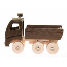 Машинка деревянная goki Самосвал (натуральный) 55914