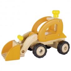 Машинка деревянная goki Экскаватор (желтый) 55962G