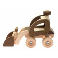 Машинка деревянная goki Экскаватор (натуральный) 55910