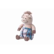 Мягкая игрушка Same Toy Свинка в комбинезоне 18см THT709