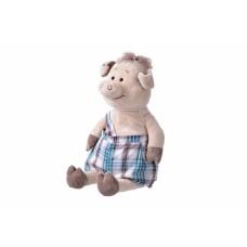 Мягкая игрушка Same Toy Свинка в комбинезоне 45см THT706