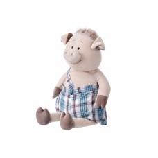 Мягкая игрушка Same Toy Свинка в комбинезоне 60см THT705