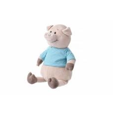 Мягкая игрушка Same Toy Свинка в тельняшке (голубой) 35см THT715