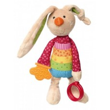 Мягкая игрушка sigikid Кролик с погремушкой 26 см 41419SK