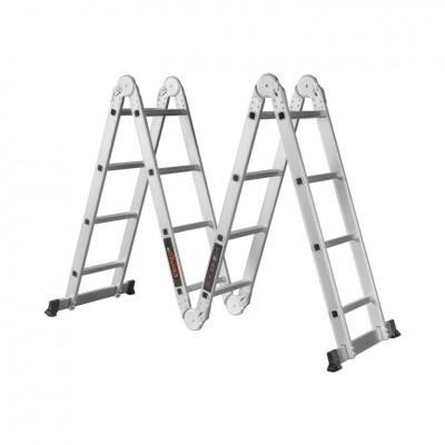 Лестница алюминиевая трансформер Dnipro-M MP-44Р 4,7 м
