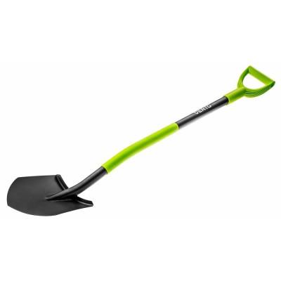 Лопата VERTO, металлическая ручка, с держателем