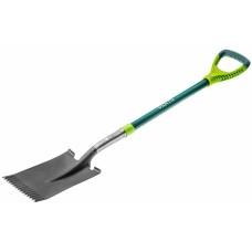 Лопата VERTO прямая, металлическая ручка
