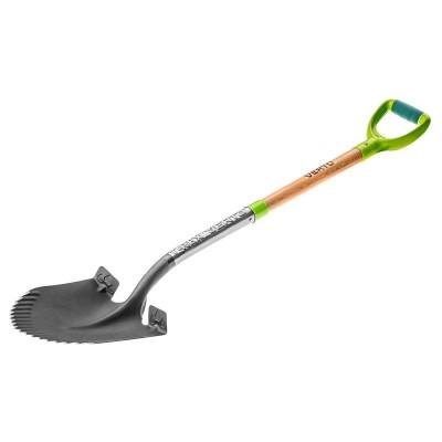 Лопата VERTO штыковая T-REX, деревянная ручка