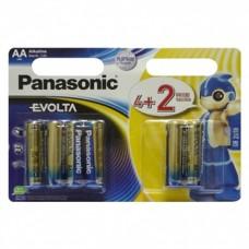 Батарейка Panasonic EVOLTA AA Alkaline, 6 шт./уп. (LR6EGE/6B2F)