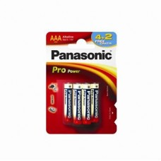 Батарейка Panasonic PRO POWER AAA Alkaline, 6 шт./уп. (LR03XEG/6B2F)