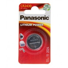 Батарейка Panasonic CR 2430 Lithium Power 3V (CR-2430EL/1B)