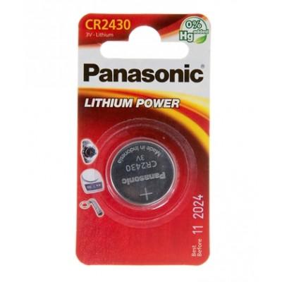 Батарейка Panasonic CR 2430 Lithium Power 3V (CR-2430EL/1B)