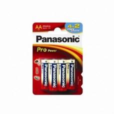 Батарейка Panasonic PRO POWER AA Alkaline, 6 шт./уп. (LR6XEG/6B2F)