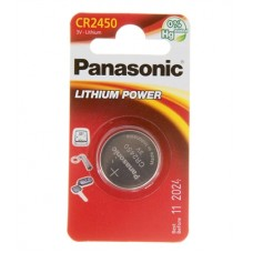 Батарейка Panasonic CR 2450 Lithium Power 3V (CR-2450EL/1B)