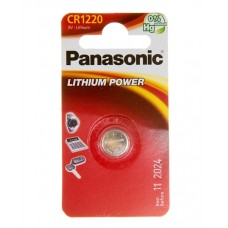 Батарейка Panasonic CR 1220 Lithium Power 3V (CR-1220EL/1B)