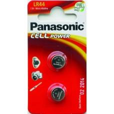 Батарейка Panasonic LR44 Alkaline 1.5V, 2 шт./уп. (LR-44EL/2B)