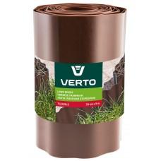 Лента VERTO газонная 20 cm x 9 m, коричневая