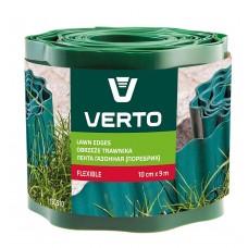 Лента VERTO газонная 10 cm x 9 m, зеленая