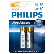 Батарейки Philips Ultra ALKALINE, 2 шт./уп. (LR6E2B/10)