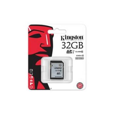 Карта памяти Kingston 32GB SDHC C10 UHS-I R45MB/s