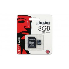 Карта памяти Kingston 8GB microSDHC C4 + SD адаптер