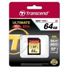 Карта памяти Transcend 64GB SDXC C10 UHS-I U3 R95/W60MB/s 4K