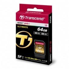 Карта памяти Transcend 64GB SDXC C10 UHS-I U3 R95/W85MB/s 4K