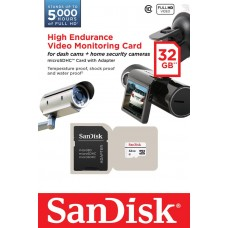 Карта памяти SanDisk 32GB microSDHC C10 W20MB/s High Endurance Video Monitoring + SD