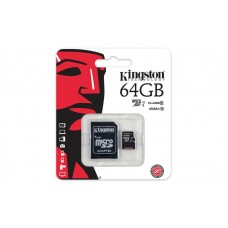Карта памяти Kingston 64GB microSDXC C10 UHS-I R45/W10MB/s + SD адаптер