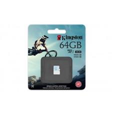 Карта памяти Kingston 64GB microSDXC C10 UHS-I U3 R90/W45MB/s