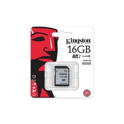 Карта памяти Kingston 16GB SDHC C10 UHS-I R45MB/s
