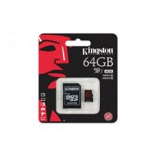 Карта памяти Kingston 64GB microSDXC C10 UHS-I U3 R90/W80MB/s 4K