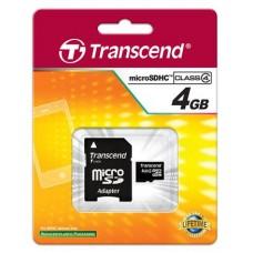 Карта памяти Transcend 4GB microSDHC C4 + SD адаптер