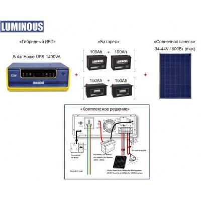 Бытовой солнечный гибридный ИБП Luminous 1400VA, 24V