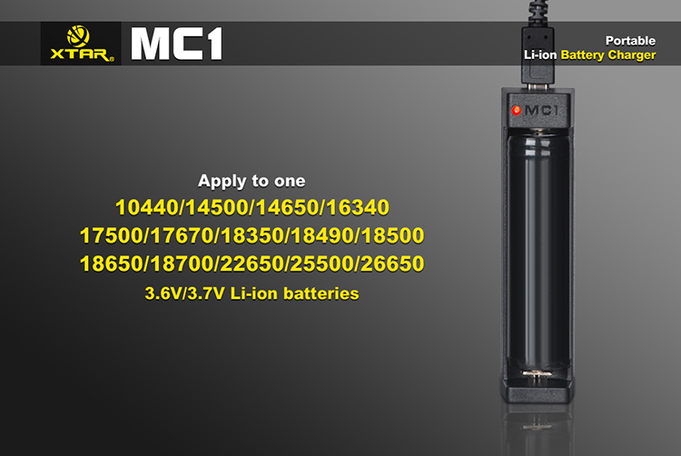Заряжаемые аккумуляторы в Xtar MC1