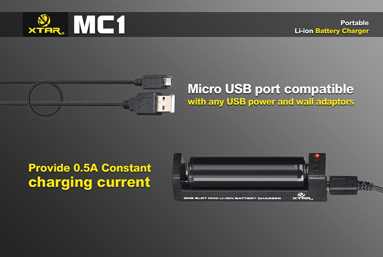 Подключение Xtar MC1