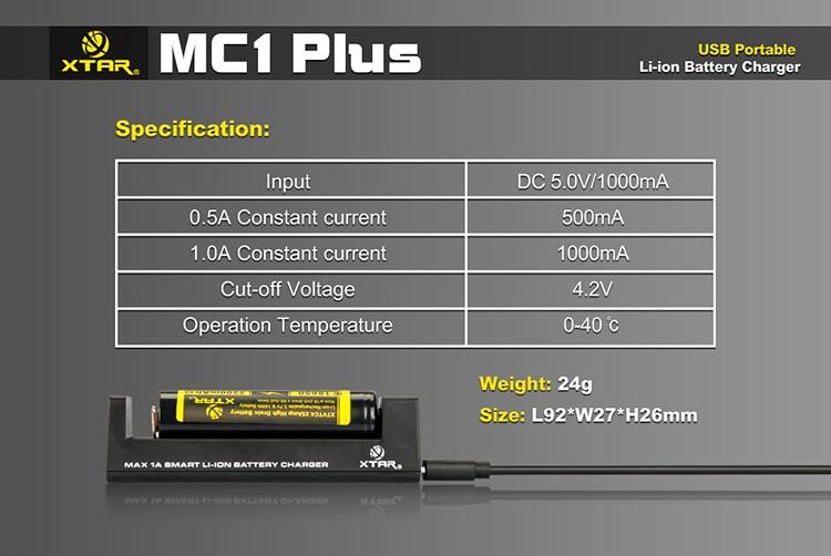 Характеристики Xtar MC1 Plus