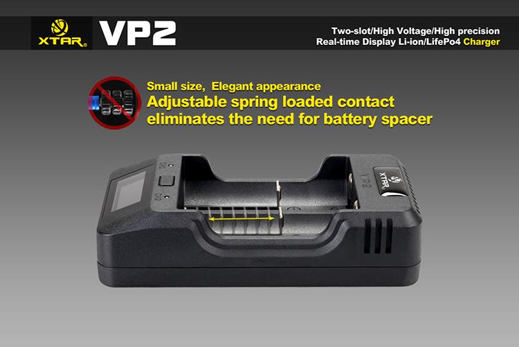 Удобные контакты в Xtar VP2